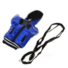 Novelty Down Jacket Style Protective Cell Phone Carrying Case Pouch - Blue