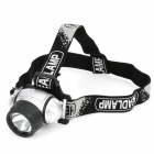 MXDL MX-61 6-LED 1-Quartz Bulb 60lm 3-Mode Headlamp - Black + Silver (3 x AAA)