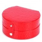 Elegant PU Leather Jewelry Box Case - Red