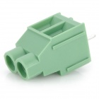 20076 6.35mm 2-Pin PCB Screw Terminal Block Connectors - Green (15-Piece Pack)