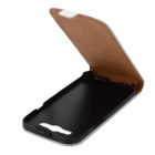 Protective Genuine Leather Top Flip Case for Samsung i9300 Galaxy S3 - White