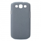 Protective Carbon Fiber Case w/ Screen Protector for Samsung i9300 Galaxy S3 - Grey