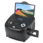 "D9 2-in-1 2.4"" Color TFT LCD USB2.0 Film Photo Scanner w/ SD / TV-Out Slot - Black"