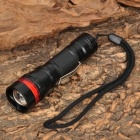 NEW-H10 Cree XR-E Q5 270lm 3-Mode White Light Zooming Flashlight - Black + Red (1 x AA / 14500)