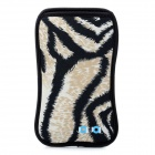 JJ106 Lion Pattern Neoprene Pouch for Samsung Galaxy S3 i9300 - Black + Yellow