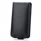 Protective Genuine Leather Flip-Open Case w/ Waist Clip for Samsung i9100 - Black