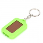 Solar Powered 3-LED White Light Keychain - Light Green