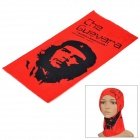 Free Soldier Che Guevara Multifunction Outdoor Sports Cycling Seamless Head Scarf - Red + Black