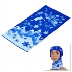Free Soldier Multifunction Outdoor Sports Bicycle Cycling Seamless Head Scarf - Blue + White