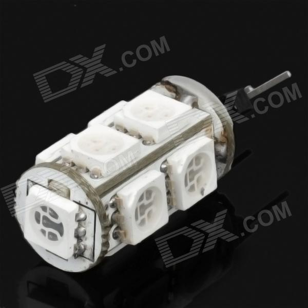 G4 1.8W 116~126lm 450~490nm 9-LED Blue Light Bulb - White (12V)