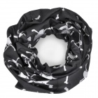 Free Soldier Skull Pattern Multifunction Outdoor Sports Cycling Seamless Head Scarf - Black + White