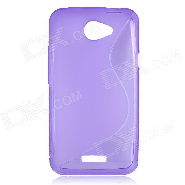 S Pattern Protective TPU Case for HTC One X / XL - Purple stylish s pattern protective tpu back case for htc one max t6 8088 809d purple