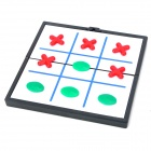 Compact Foldaway Magnetic Aeroplane Chess - Red + Green