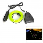 T10 3M Car Lighting Wire EL Neon Light with Music Sensor - Yellow