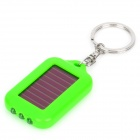 TY003 Solar Powered 3-LED White Light Keychain - Dark Green