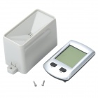 "2.7"" LCD Wireless Rain Gauge with Indoor Thermometer - Grey"