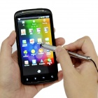 Retractable Screen Stylus Pen w/ 3.5mm Anti-dust Plug for Samsung i9300 / i9200 / i9250 - Silver