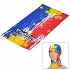 Free Soldier Multifunction Outdoor Sports Bicycle Cycling Seamless Head Scarf - Blue + Red