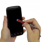 Retractable Screen Stylus Pen w/3.5mm Anti-dust Plug for Samsung i9300 / i9200 / i9250 / i9100 - Red