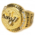 Stylish Lakers 2009 NBA Champions Pattern Ring - Golden + Silver