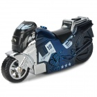 Cool Motorcycle Style Windproof Butane Jet Lighter -Blue
