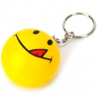 Smiling Face Plastic Ball Style Keychain - Yellow
