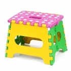 Mini Leisure Extended Folding Stool - Purple + Yellow + Green