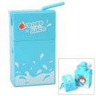Juice Box Compact Style Fan - Blau (2 x AA)