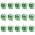20078 2-Pin PCB Screw Terminal Block Connectors - Green (15-Piece Pack)