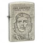 Che Guevara Hero Figure Pattern Cigar Cotton Oil Lighter - Antique Silver