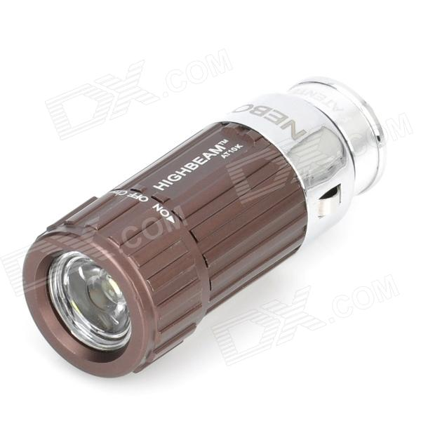 Mini Car Charger Powered Rechargeable 1W 7000K 45-Lumen 1-LED Flashlight - Brown (DC 12V) portable ultra bright waterproof aluminum alloy mini led flashlight