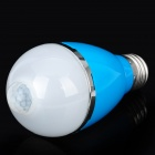 PIR Infrared Motion Sensor E27 5W 3500K 460LM 10-LED Warm White Light Bulb - Blue (AC 85~265V)
