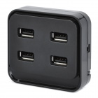 USB 2.0 4-Port Hub - Black (20cm-Cable)