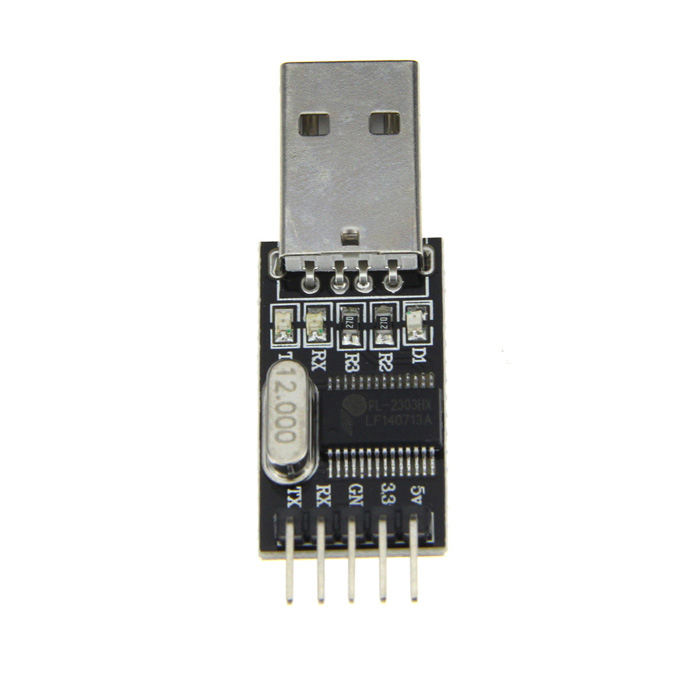PL2303HX USB to TTL RS232 Auto Converter Module Adapter w/ 4 Dupont Cables for Arduino