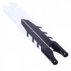 TNS 325mm Carbon Fiber Main Blades for T-Rex 450 Helicopters - Black + White (10-Piece Pack)