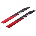 TNS 360mm Carbon Fiber Main Blades for T-Rex 480 Helicopters - Red + Black (10-Piece Pack)