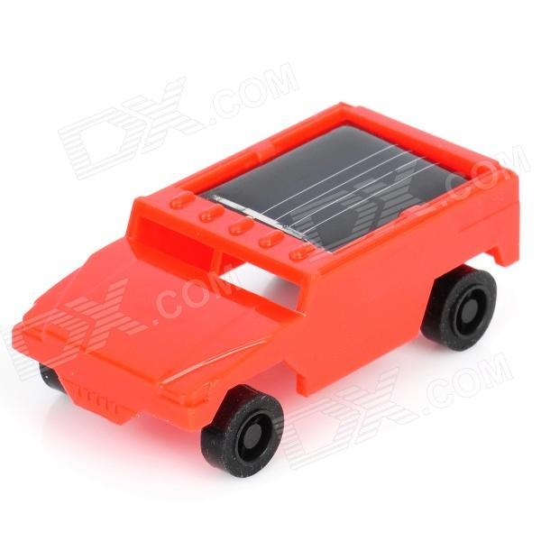 Mini Assembly Solar Powered Racing Car Toy - Red