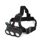 500lm 3-Mode Warm White Light Headlamp - Black (3 x 18650)