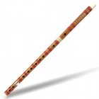 Handcrafted Chinese Traditional Bamboo Flute - Red + Yellow (F-Key)