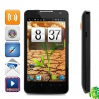 "HD7 Android 4.0 WCDMA Bar Phone w/ 4.3"" Capacitive Screen, GPS, Wi-Fi and Dual-SIM - Black"