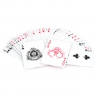 Multi-Function Magic Paper Playing Cards Poker Set - Red (54-Piece Set)