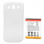 3.7V 3600mAh Extended Battery Pack w/ White Back Case for Samsung Galaxy S3 i9300