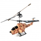Mini Rechargeable 3.5-CH IR R/C Missile Launching Helicopter with White Light - Camouflage Yellow