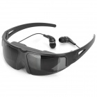 "Rechargeable 60"" Virtual Screen Video Display Sunglasses w/ AV-In / 2.5mm Jacks - Black"