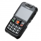 "LM890 Ultra-Rugged GSM Cell Phone w/ 2.3"" Screen, Quad-band, Dual-SIM and FM - Black"
