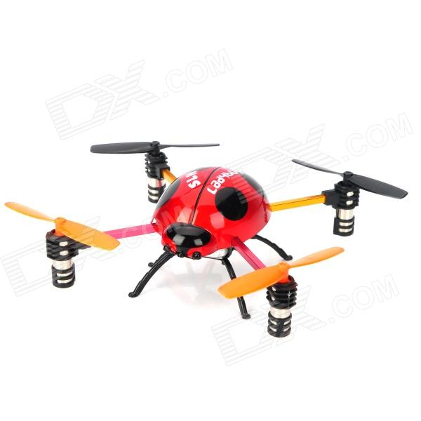 Creative 2.4GHz Remote Control 4-CH Ladybug Style Flying UFO w/ Gyro - Yellow + Black + Red