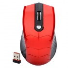 A307 2.4GHz Wireless 800 / 1000 / 1600 DPI Optical Mouse w/ USB Receiver - Black + Red (2 x AAA)