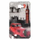 Retro London Red Taxi/Big Ben Pattern Protective Hard Back Case for Samsung i9220 Galaxy Note