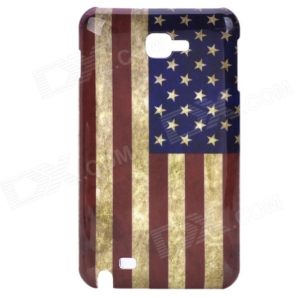 Retro U.S. National Flag Pattern PC Plastic Hard Back Case for Samsung i9220 Galaxy Note elring 166 060 elring прокладка головка цилиндра