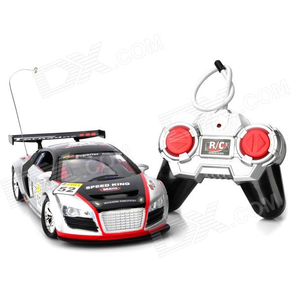 1:18 Mini Rechargeable 27MHz 4-CH R/C Racing Car - Black + Silver